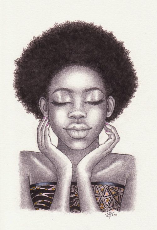 Black women illustration afro
