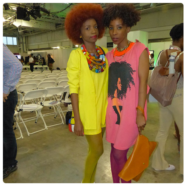 Zanjoo Fashion Spy: African Bead Necklace, Bright Yellow Skirt Suit, T-Shirt Dress