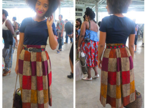 Zanjoo Fashion Spy: Checkered African Inspired Maxi Skirt