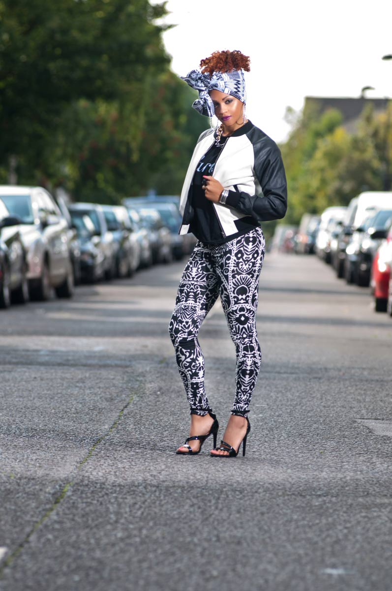 tribal-leggings_bomber jacket head wrap