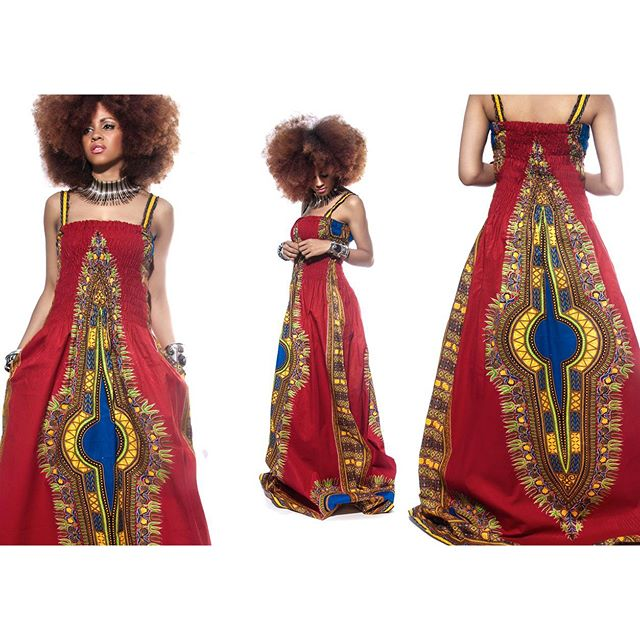 The Jooaku Dashiki Maxi Prom Dress